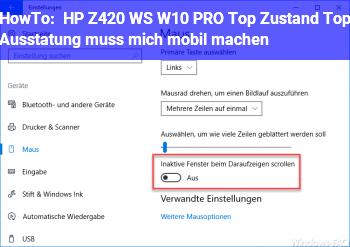 HowTo HP Z420 WS W10 PRO Top Zustand, Top Ausstatung, muss mich mobil machen