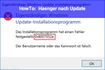 HowTo Hänger nach Update