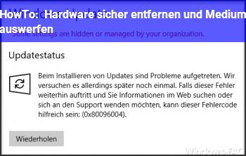 HowTo Hardware sicher entfernen und Medium auswerfen