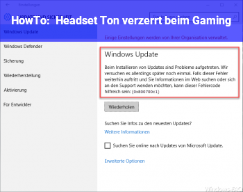 HowTo Headset Ton verzerrt beim Gaming
