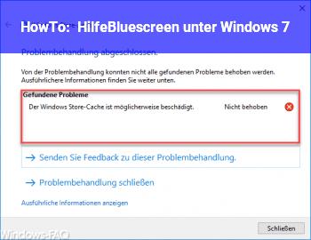 HowTo Hilfe,Bluescreen unter Windows 7