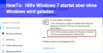 HowTo Hilfe!  Windows 7 startet, aber ohne Windows wird geladen !