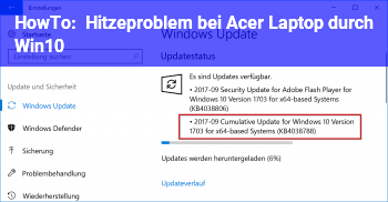 HowTo Hitzeproblem bei Acer Laptop durch Win10?