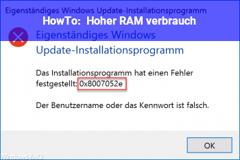 HowTo Hoher RAM verbrauch