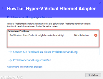 HowTo Hyper-V Virtual Ethernet Adapter