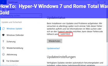 HowTo Hyper-V Windows 7 und Rome Total War Gold