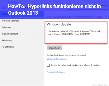 HowTo Hyperlinks funktionieren nicht in Outlook 2013