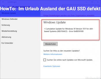 HowTo Im Urlaub (Ausland) der GAU: SSD defekt