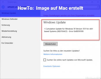 HowTo Image auf Mac erstellt