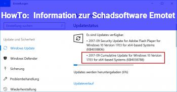 HowTo Information zur Schadsoftware Emotet