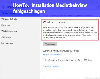 HowTo Installation Mediathekview fehlgeschlagen