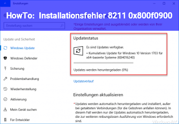 HowTo Installationsfehler – 0x800f0900