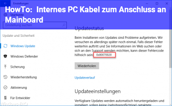 HowTo Internes PC Kabel zum Anschluss an Mainboard