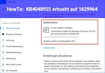 HowTo KB4048955 erhöht auf 16299.64