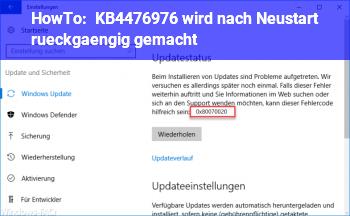 HowTo KB4476976 wird nach Neustart rückgängig gemacht