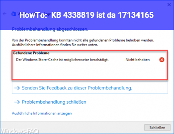 HowTo KB 4338819 ist da (17134.165)