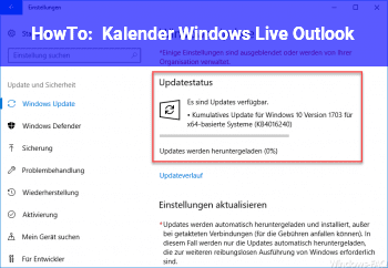 HowTo Kalender Windows Live /Outlook