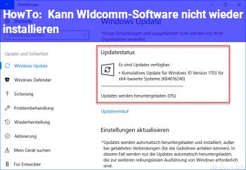 HowTo Kann WIdcomm-Software nicht wieder installieren