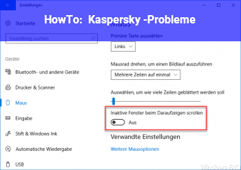 HowTo Kaspersky -Probleme