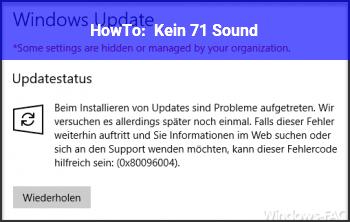HowTo Kein 7.1 Sound