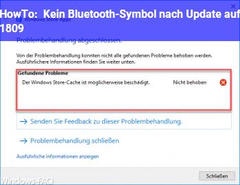 HowTo Kein Bluetooth-Symbol nach Update auf 1809