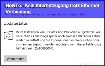 HowTo Kein Internetzugang trotz Ethernet Verbindung