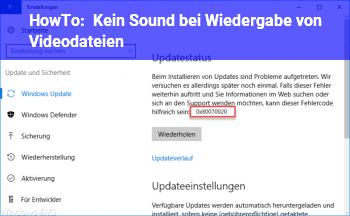 HowTo Kein Sound bei Wiedergabe von Videodateien