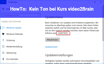 HowTo Kein Ton bei Kurs video2Brain
