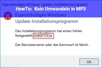 HowTo Kein Umwandeln in MP3