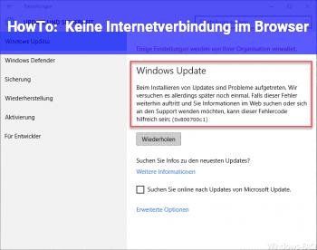 HowTo Keine Internetverbindung im Browser