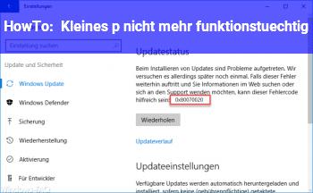 """HowTo Kleines """"p"""" nicht mehr funktionstüchtig"""