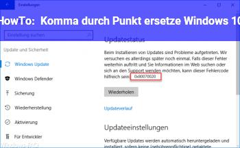 HowTo Komma durch Punkt ersetze (Windows 10)