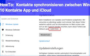 HowTo Kontakte synchronisieren zwischen Win 10 Kontakte App und iCloud