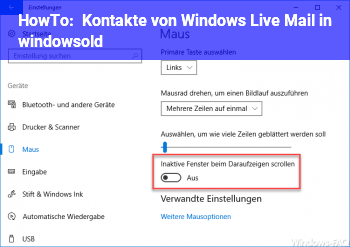 HowTo Kontakte von Windows Live Mail in windows.old