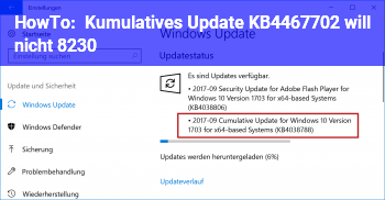 HowTo Kumulatives Update KB4467702 will nicht …