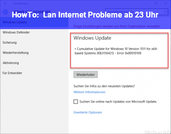 HowTo Lan ( Internet ) Probleme ab 23 Uhr