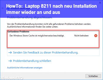 HowTo Laptop – nach neu Installation immer wieder an und aus