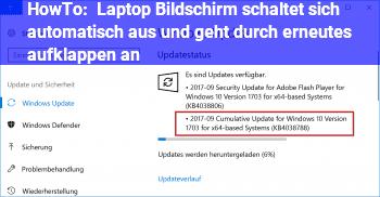 HowTo Laptop Bildschirm schaltet sich automatisch aus und geht durch erneutes aufklappen an