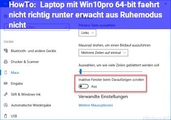 laptop win 10 fährt nicht runter