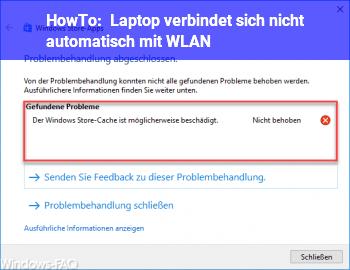 HowTo Laptop verbindet sich nicht automatisch mit WLAN