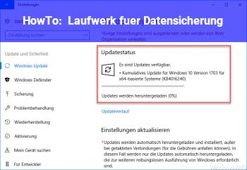 HowTo Laufwerk für Datensicherung