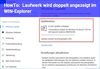 HowTo Laufwerk wird doppelt angezeigt im WIN-Explorer