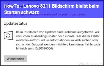 HowTo Lenovo – Bildschirm bleibt beim Starten schwarz