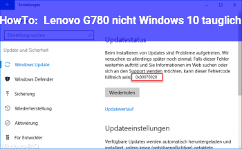 HowTo Lenovo G780 nicht Windows 10 tauglich?