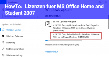 HowTo Lizenzen für MS Office Home and Student 2007