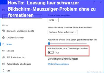 HowTo Lösung für schwarzer Bildschirm-Mauszeiger-Problem ohne zu formatieren?