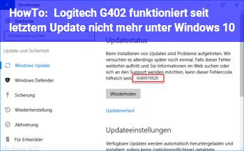 HowTo Logitech G402 funktioniert seit letztem Update nicht mehr unter Windows 10