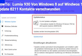 HowTo Lumia 930, Von Windows 8 auf Windwos 10 update – Kontakte verschwunden