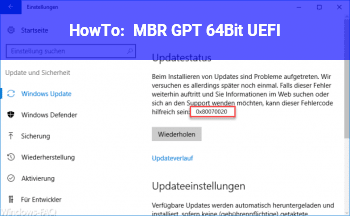 HowTo MBR GPT 64Bit UEFI ?