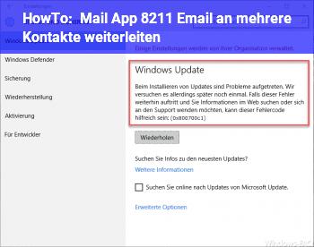 HowTo Mail App – Email an mehrere Kontakte weiterleiten ?